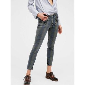 Free People Lennon Plaid Ankle Skinny Jeans
